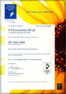 Certificate ISO 14001 Environmental Protection